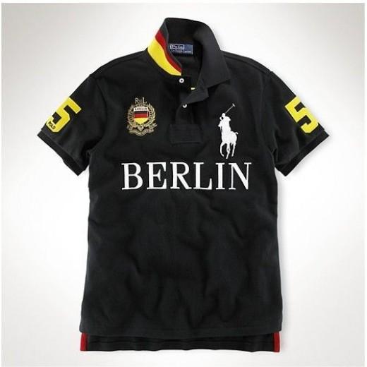 Camisa Polo Preta Berlim RL - Cod 0235